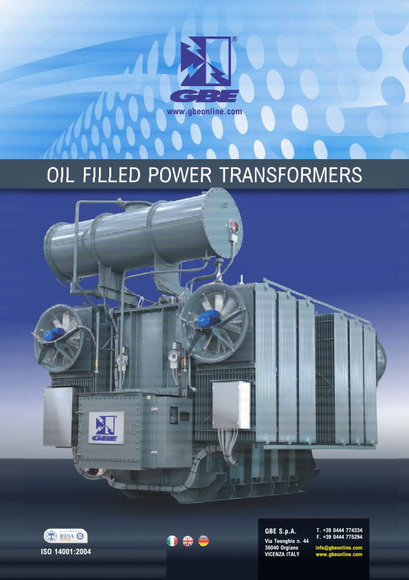 Catalogo Oil Filled Power Transformers ITA ENG DEU